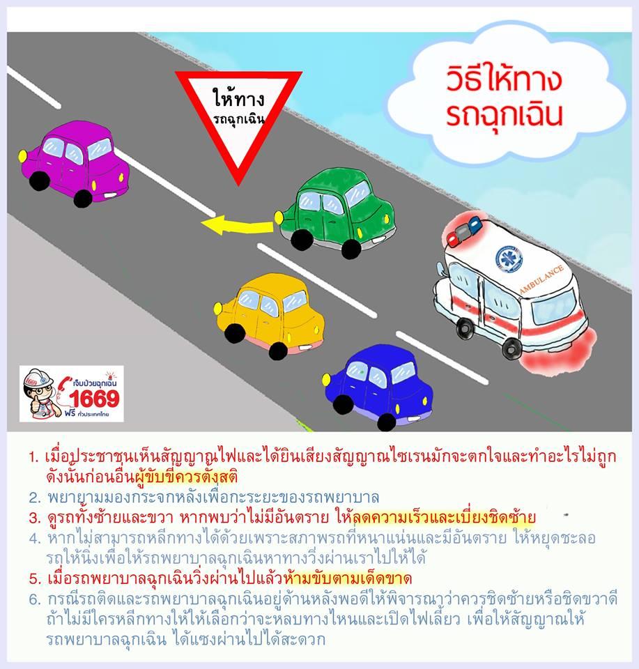 วิธีให้ทางรถฉุกเฉิน