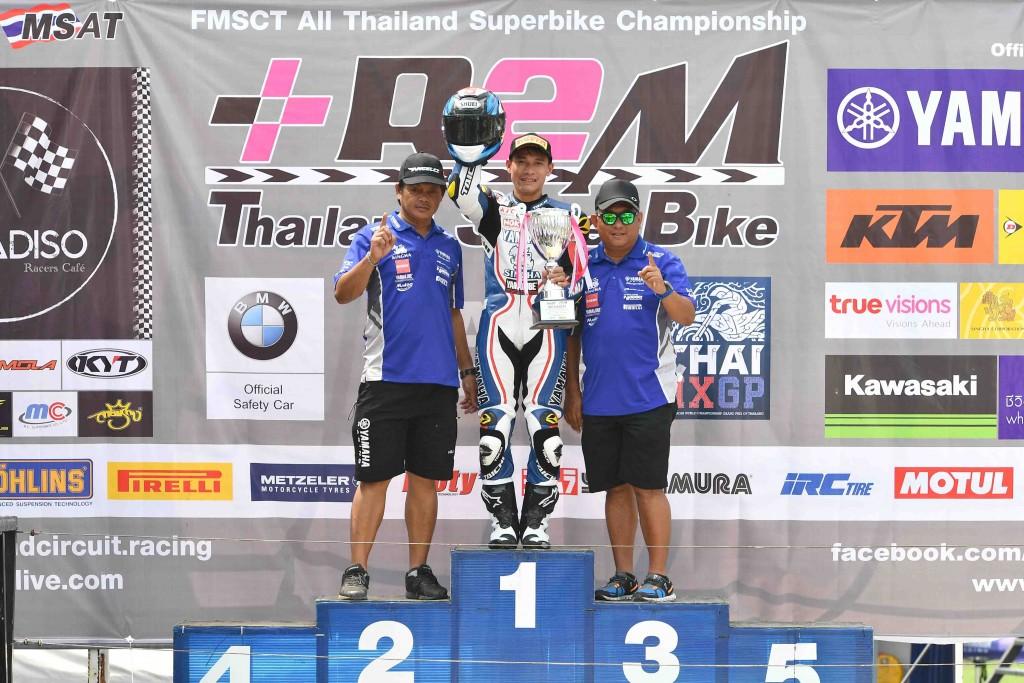 08 ยามาฮ่าคว้าชัยศึกชิงแชมป์ประเทศไทย สนามแรก.