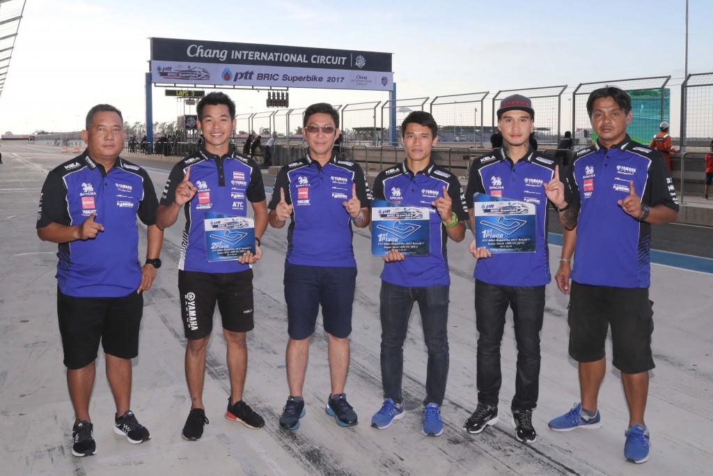 01 ทัพนักบิดยามาฮ่ากวาดโพเดี้ยม ศึกชิงแชมป์ประเทศไทย สนามที่ 2
