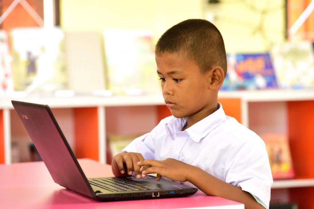 น้องคิว นักเรียนชั้นป.3 โรงเรียนบ้านเสลา