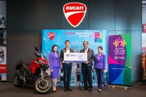 ดูกาตี จัดทริพ Ducati Dream Tour 2017 ผนึกกำลังการบินไทย บินลัดฟ้าไปขี่รถที่อิตาลี