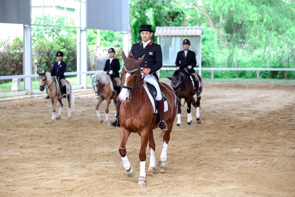 11. คณะสื่อมวลชนได้ร่วมชมการโชว์ศิลปะการบังคับม้า