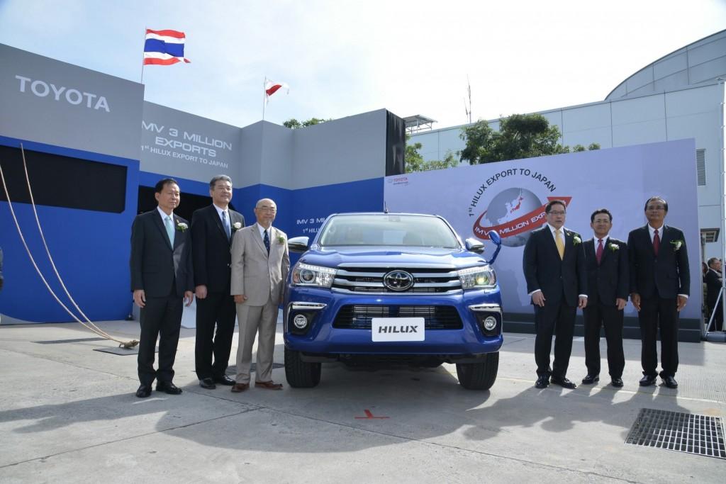 โตโยตา ประกาศความสำเร็จ ยอดส่งออกรถยนต์ในโครงการ IMV ครบ 3 ล้านคัน และเริ่มส่งออกรถกระบะไฮลักซ์ สู่ประเทศญี่ปุ่น