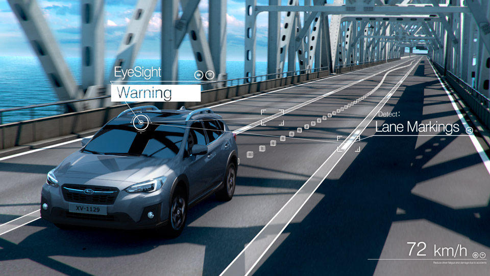 EyeSight - Lane Departure and Lane Sway Warning