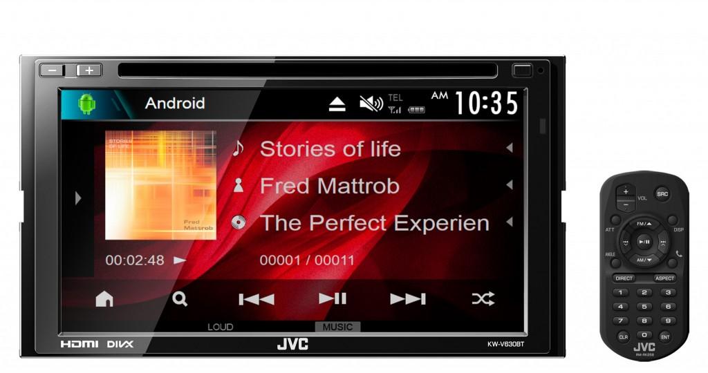 JVC KW-V630BT พร้อม Bluetooth เชื่อมต่อโทรศัพท์ได้ 2 เครื่อง
