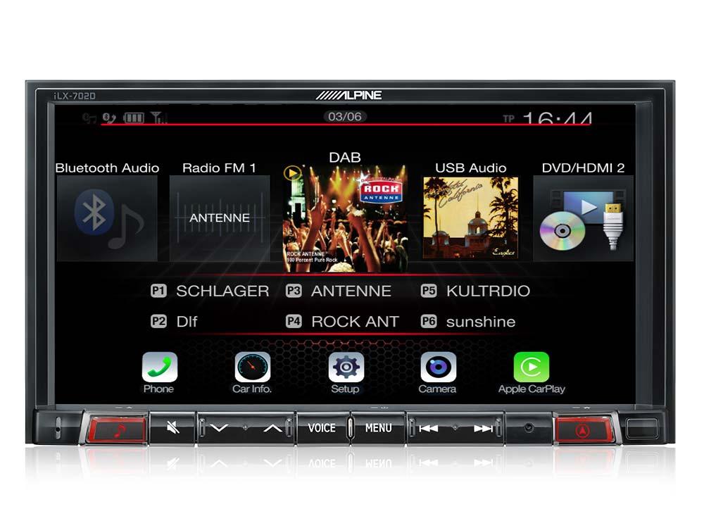 Alpine ILX-702D เชื่อมต่อได้ทั้ง Apple Carplay และ Android Auto