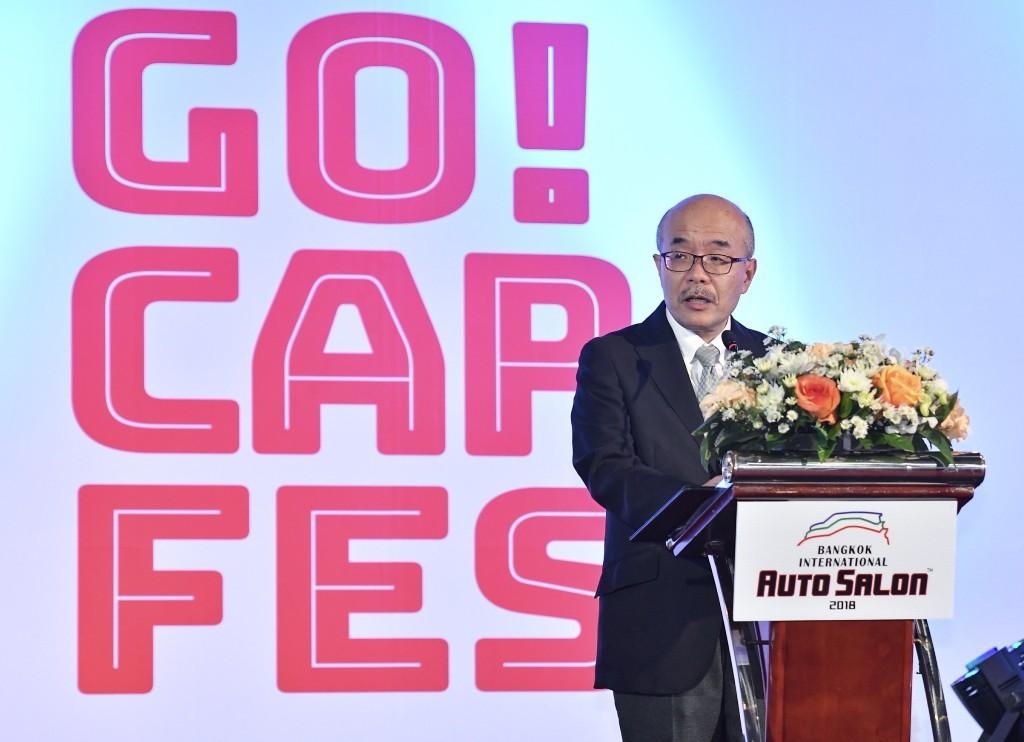 5 นายมาซาฮารุ ซากาอิ ประธานการจัดงาน โตเกียว ออโต ซาลอน