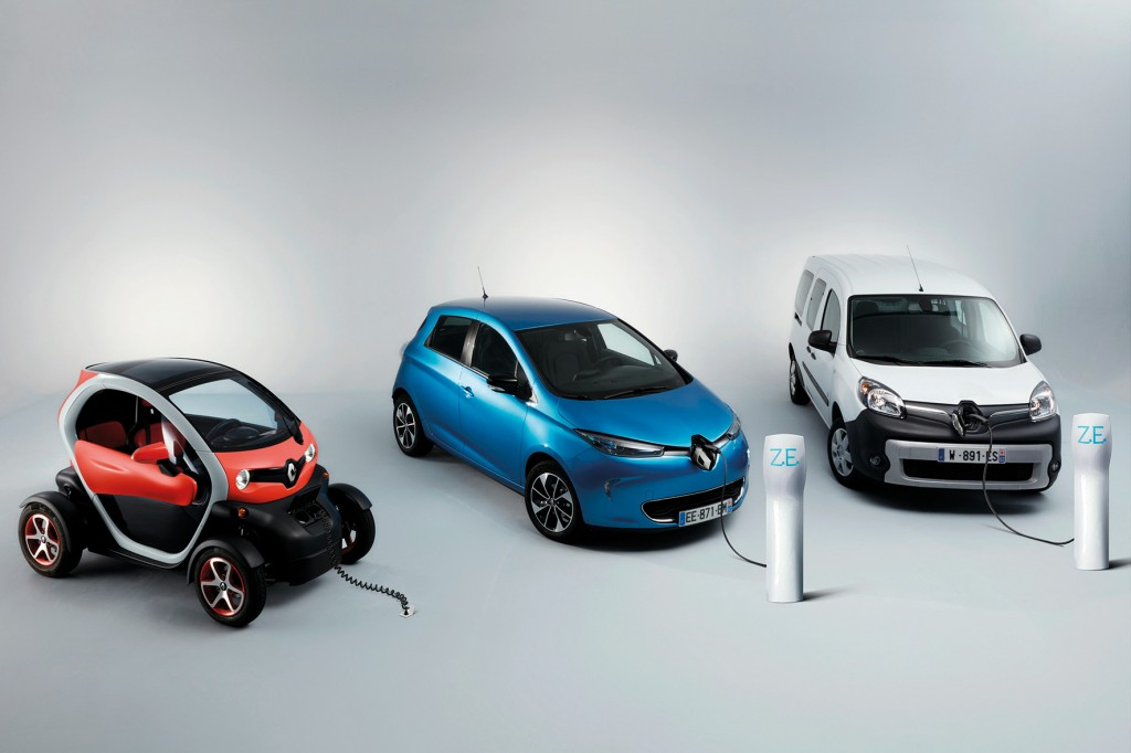 RENAULT Z.E. RANGE ELECTRIC VEHICLES IN STUDIO