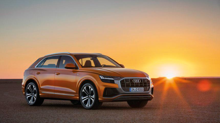 Der Q8 kommt bereits im Juli auf den Markt und soll zu Schätzpreisen ab 70 000 Euro gegen BMW X6 und Mercedes GLE Coupé punkten.