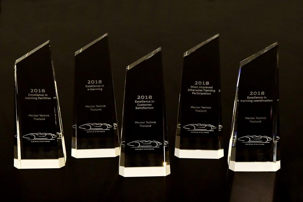 โล่ 5 รางวัล บริการหลังการขาย ระดับเอเชียแปซิฟิก