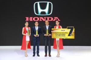 ฮอนดา คว้า 3 รางวัล TAQA Award ในงาน มหกรรมยานยนต์ ครั้งที่ 35