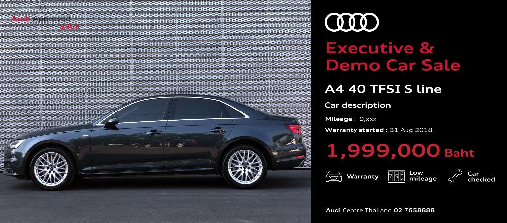 Ex&Demo-Sale-Car-Audi  A4 40 TFSI S Line