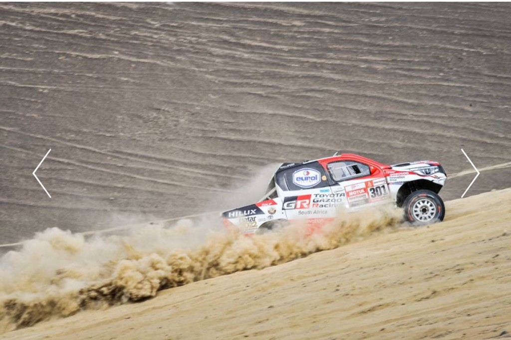 โตโยตา กลับมานำ สเตจ 3 Dakar Rally