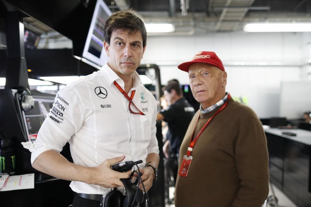 Niki Lauda, Toto Wolff, Mercedes-AMG Petronas Motorsport  Niki Lauda, Toto Wolff, Mercedes-AMG Petronas Motorsport