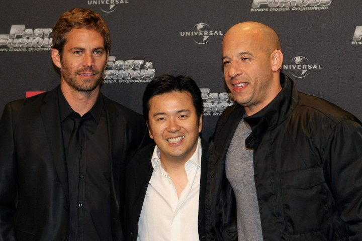 BOCHUM, GERMANY - MARCH 17:  (L-R) Paul Walker, director Justin Lin and Vin Diesel arrive for the Europe premiere of Fast & Furious on March 17, 2009 in Bochum, Germany.  (Photo by Ralph Orlowski/Getty Images) *** Local Caption *** Paul Walker;Vin Diesel;Justin Lin