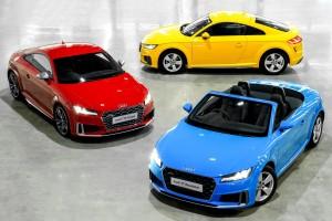 Audi Thailand เปิดตัวสปอร์ทรุ่นเล็กประจำค่ายอย่างพร้อมเพรียง เริ่มด้วย TT Roadster สปอร์ทเปิดประทุนผ้าใบ ตามด้วยสปอร์ทคูเปตัวแรง TTS Coupe และที่เปิดตัวไปก่อนหน้านี้แล้ว กับ TT Coupe