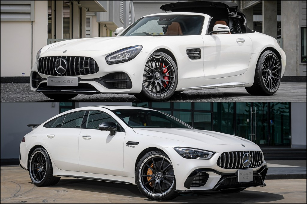 2 สไตล์กับความแรงแบบสุดขั้วรหัส AMG ! จัดเต็ม Mercedes-AMG GT C Roadster ราคา 17,190,000 บาท และ Mercedes-AMG GT 63 S 4Matic+ 4-Door Coupe ราคา 14,990,000 บาท