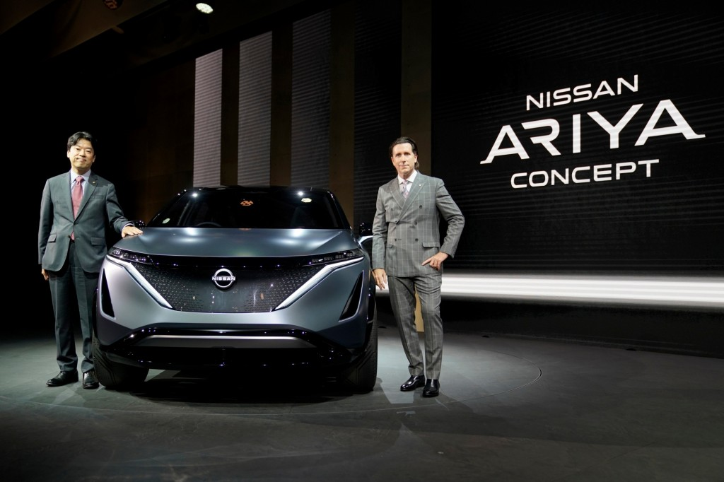 TOKYO – Nissan kicked off a new era in design and performance today with the launch of two all-electric concept cars at the 2019 Tokyo Motor Show. The Nissan Ariya Concept and Nissan IMk concept are the latest centerpieces of Nissan Intelligent Mobility, the company's vision for changing how vehicles are powered, driven and integrated into society.