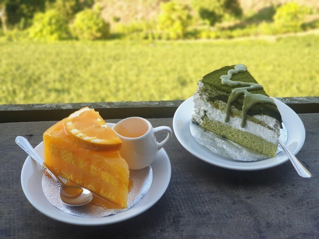 26.ไร่ชาลุงเดช - เค็กส้ม เค็กชาเขียว