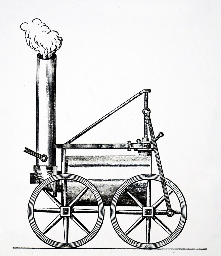 Engraving depicting Richard Trevithick's steam locomotive of 1804 for the Penydarren tram line. Richard Trevithick (1771-1833) a British inventor and mining engineer from Cornwall, England. Dated 19th century. (Photo by: Universal History Archive/Universal Images Group via Getty Images)