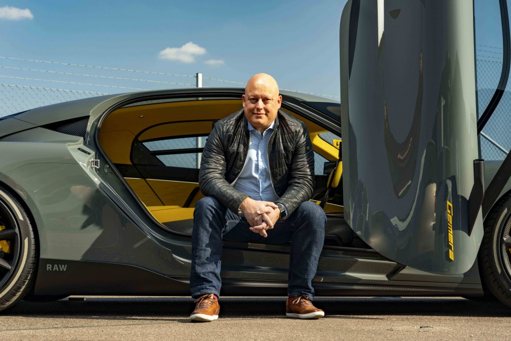 Christian von Koenigsegg with Gemera