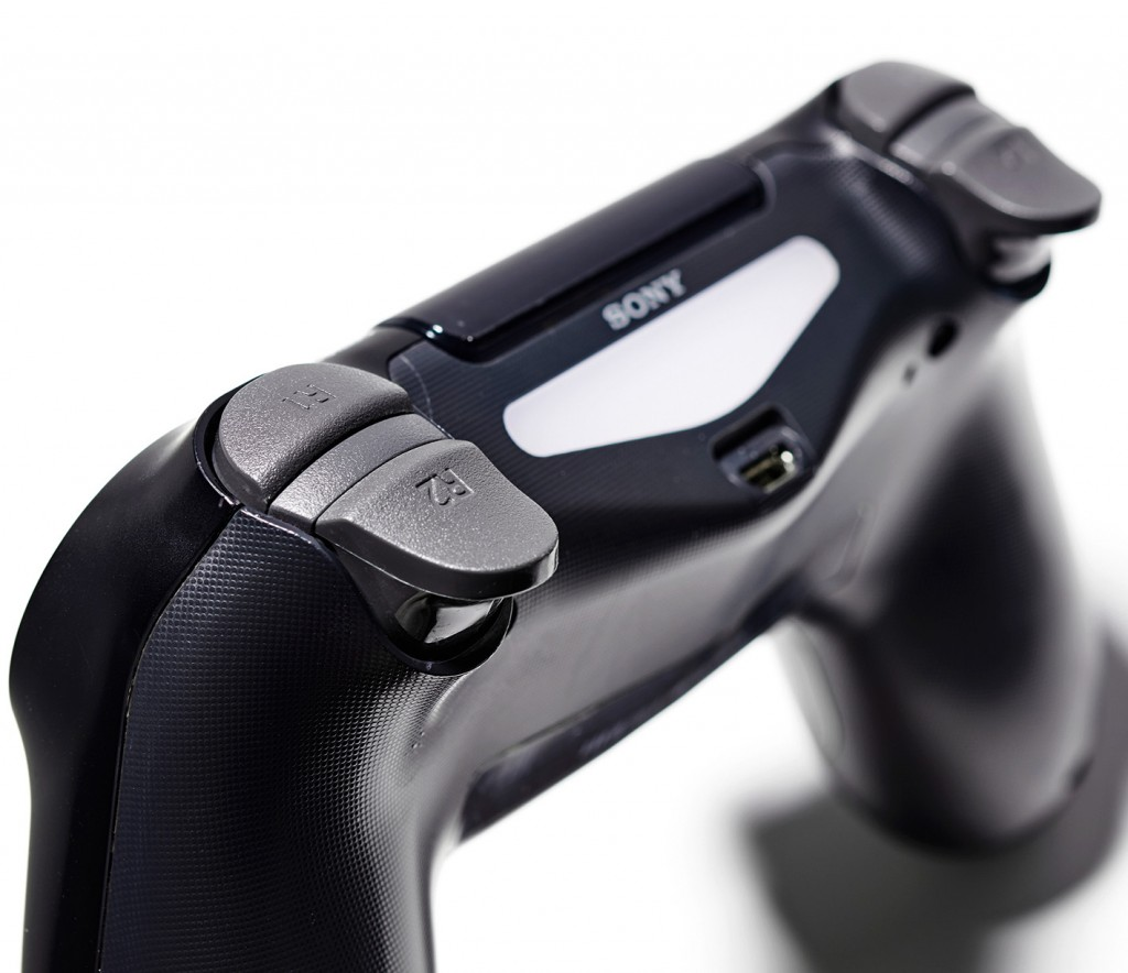 Detail of a Sony DualShock 4 wireless controller, taken on February 14, 2020. (Photo by Neil Godwin/T3 Magazine)