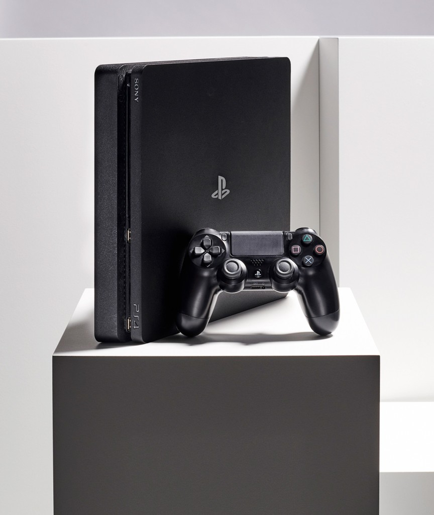 A Sony PlayStation 4 video game console and DualShock 4 wireless controller, taken on February 14, 2020. (Photo by Neil Godwin/T3 Magazine)