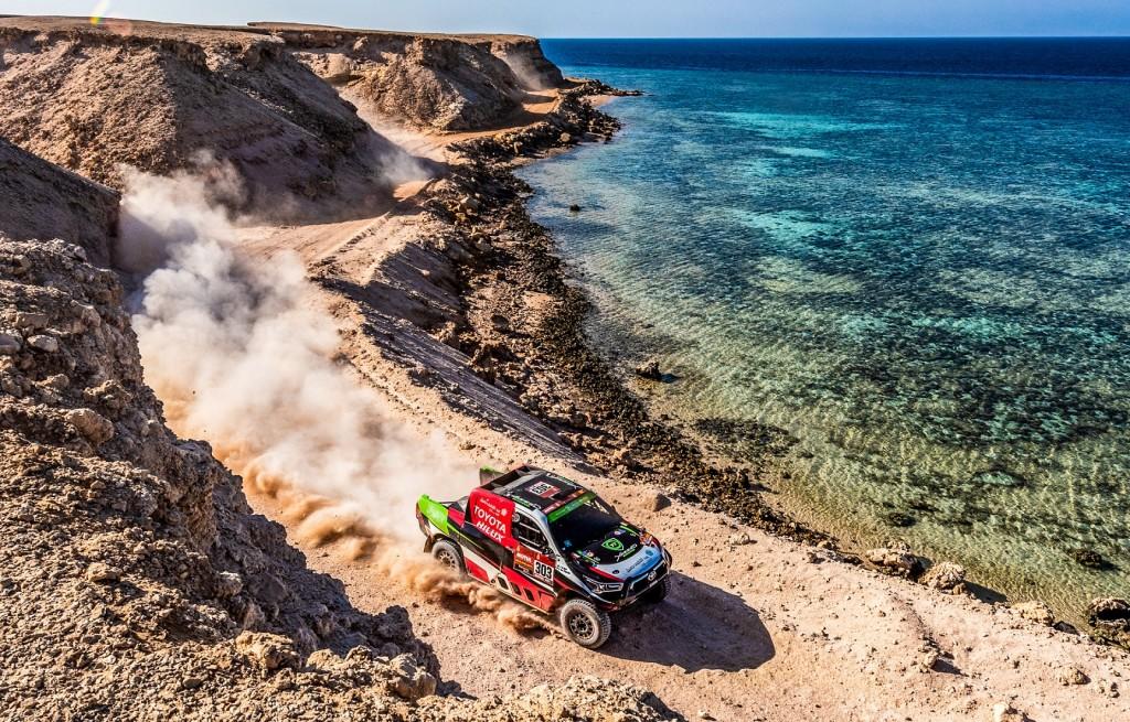Dakar 2021, 303 Yazeed Al-Rajhi / Dirk Von Zitzewitz Overdrive Toyota during the Dakar 2021- 12/01/2021 ETAPE 9 - PHOTO : BFGoodrich