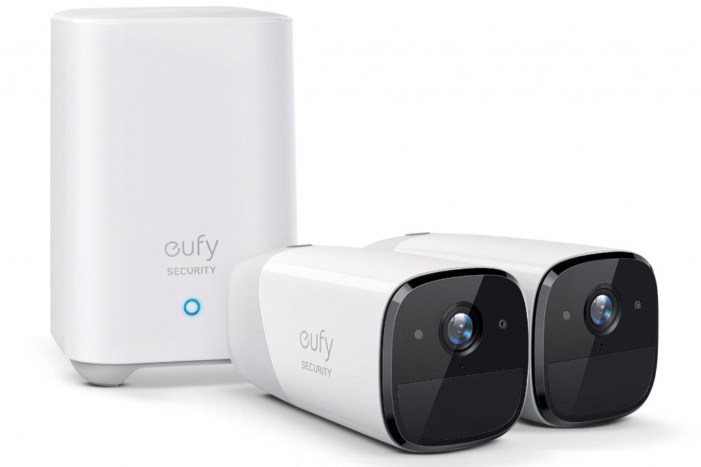 eufyCam 2 Pro bundle, 2 cameras and 1 base.