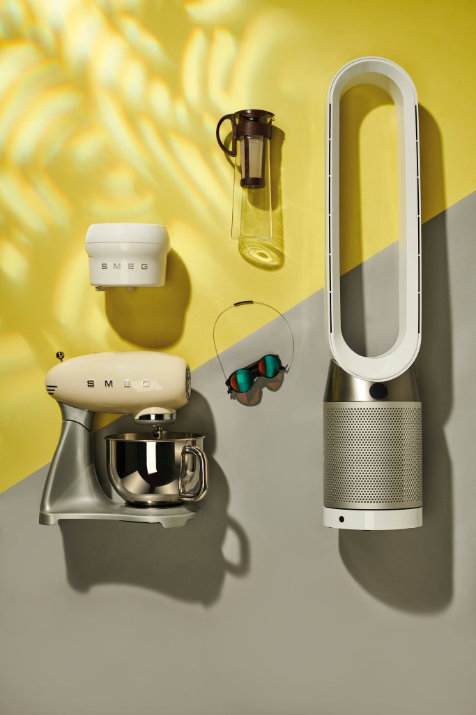 Smeg Ice Cream Maker, Hario Cold Brew COffee pot, Dyson pure Cool and Oakley Clifden Sunglasses taken on June 15, 2020. (Photo by Neil Godwin/T3 Magazine)