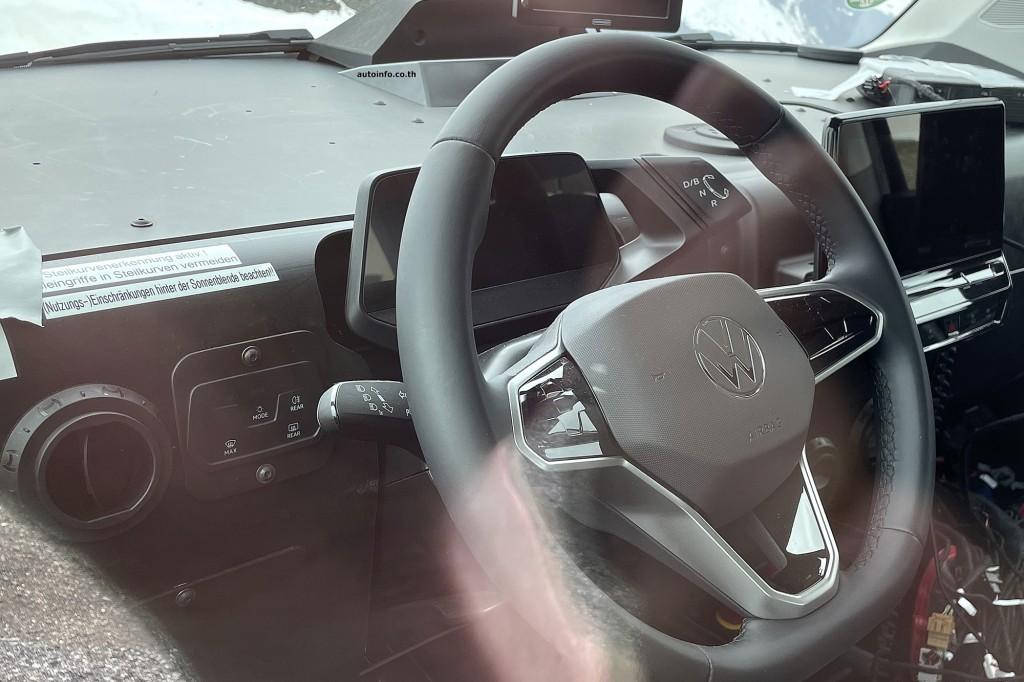 Spy shot of secretly tested future car