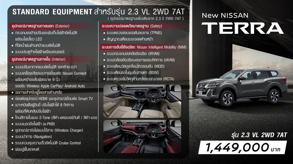 New NISSAN TERRA Grade Walk 2.3VL 2WD