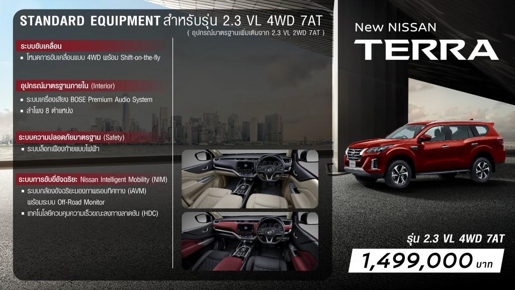 New NISSAN TERRA Grade Walk 2.3VL 4WD